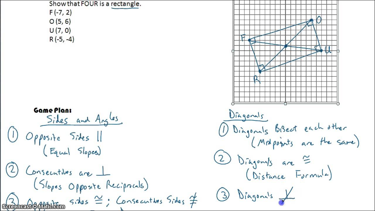 worksheet Geometry Quadrilaterals Worksheet 8 7 proving quadrilaterals in coordinate geometry youtube geometry