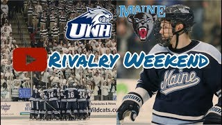 College Hockey Rivalry Weekend: Maine vs. UNH (Finally see us play hockey)