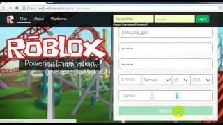 Roblox.com rogor davregistrirdet