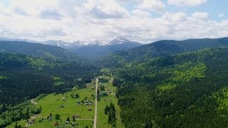 Aerial View of Road To Mountain Hoverla, Ukraine Carpathian Mountains. | Stock Footage - Videohive