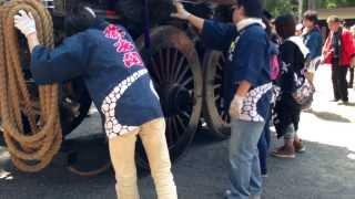 2013年日野祭 河原田町「蘭香閣 」ギンギリ回し