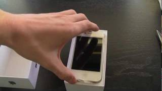 iPhone 4S Unboxing (White 64GB)(This is just a simple unboxing video for my white 64GB iPhone 4S. Latest on the next-gen iPhone 5 / New iPhone: ..., 2011-10-14T21:00:12.000Z)