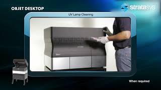 Stratasys Academy | PolyJet Desktop Series: Cleaning the UV Lamp
