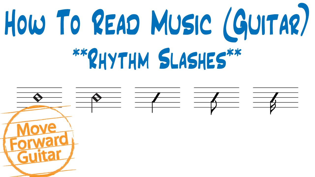 How to read music guitar rhythm slash notation youtube hexwebz Gallery