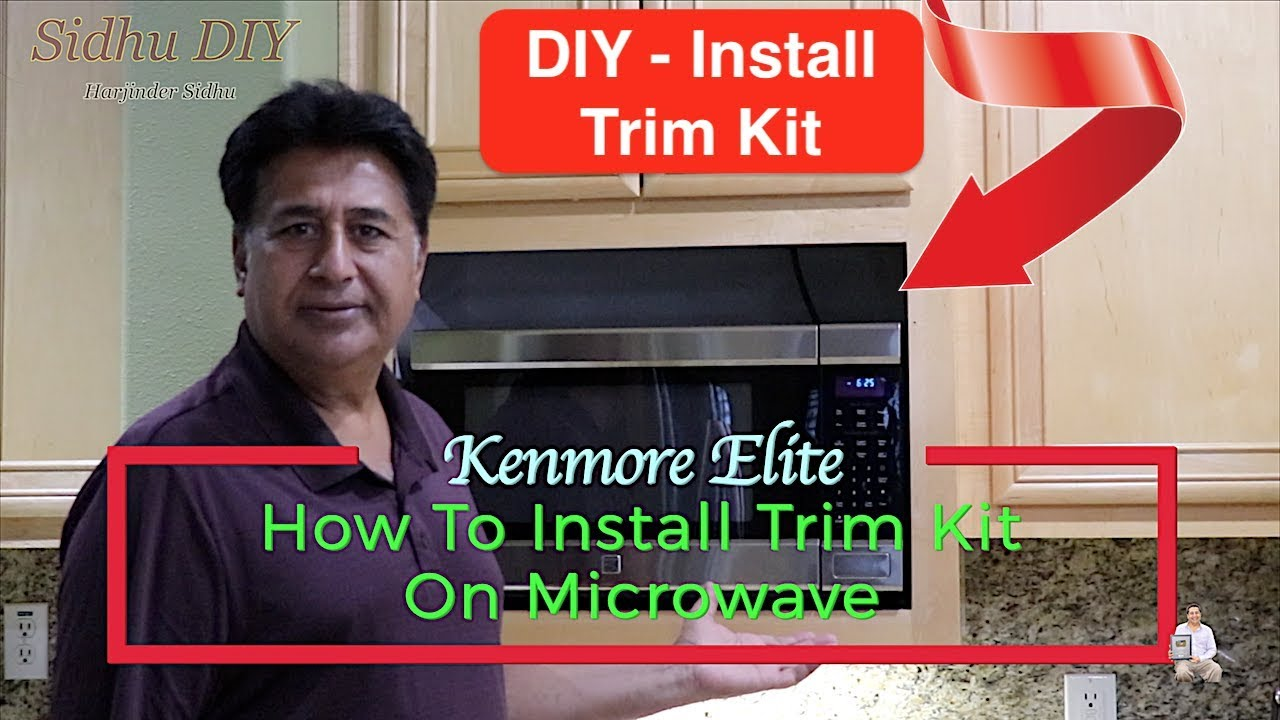 how to install trim kit on microwave