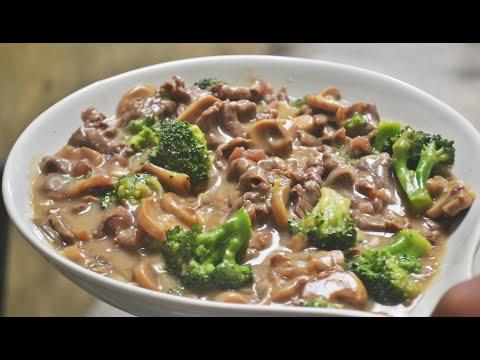 Creamy Mushroom Beef Broccoli | Easy Recipe
