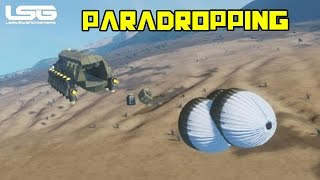 Space Engineers - Parachuting Supplies & Vehicles