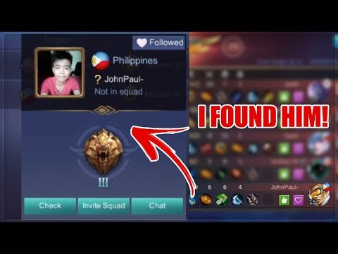 I FOUND ONE OF THE KIDS MOBILE LEGENDS TV BULLIED... AND THIS HAPPENED!