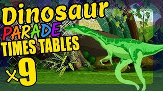 Dinosaurs Teaching Multiplication Times Tables x9 Educational Math Video for Kids