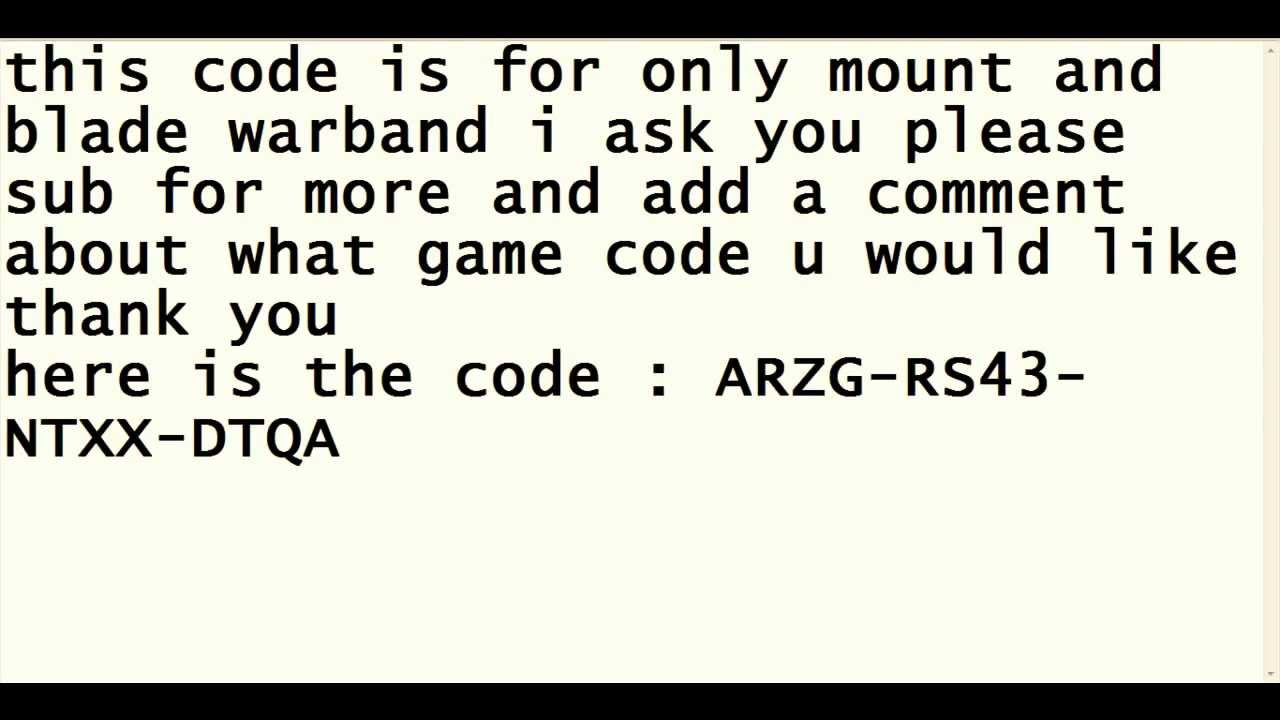 Mount and blalde warband serial key