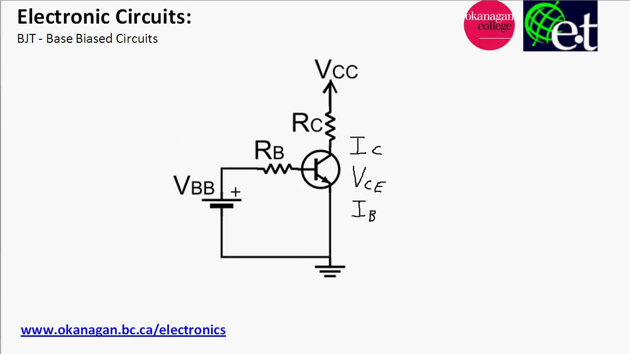 bjt - base biased circuits