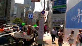2017 首爾自由行 - 6001、6015機場巴士世宗前上下車站步行往明洞格蘭酒店The Grand Hotel(明洞大飯店)