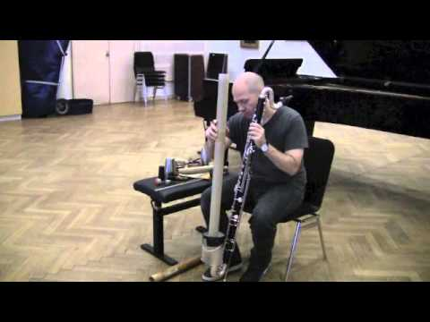 Lucio Capece demonstrates his preparations for bass clarinet