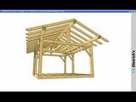 Dietrich\'s Timber Frame Cabin - YouTube