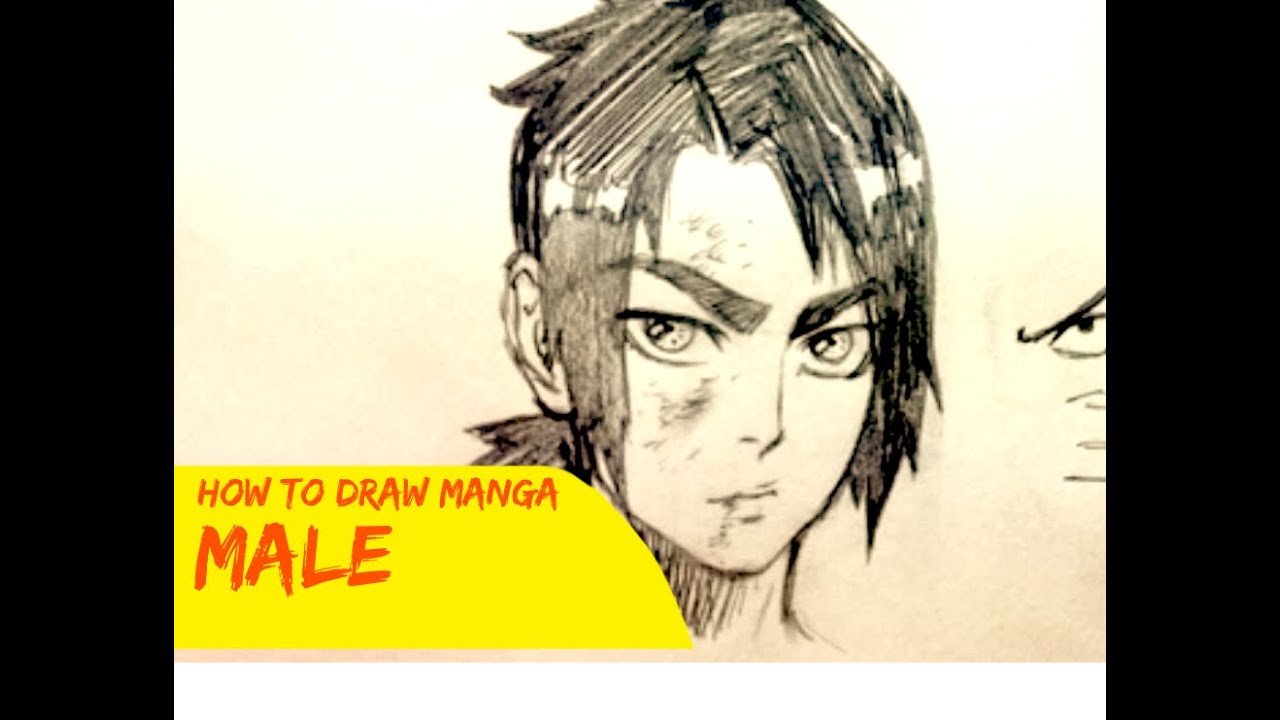 How To Draw Manga Male Character Narrated Tutorial