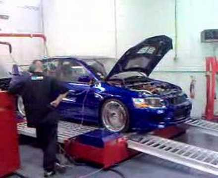 AMS engined Evo 9 on rollers
