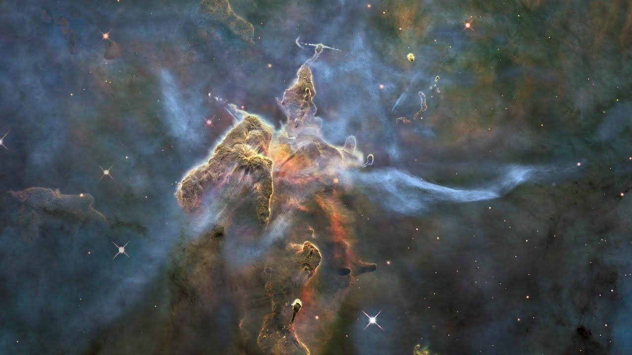 Mystic Mountain: Bright Pillar in the Carina Nebula - YouTube