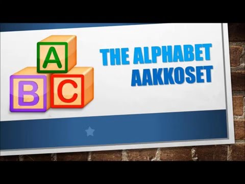 Finnish Lesson 1. The Alphabet | Aakkoset