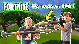 Fortnite RPG In Real Life! We Blow Up a Car SKIT | DavidsTV