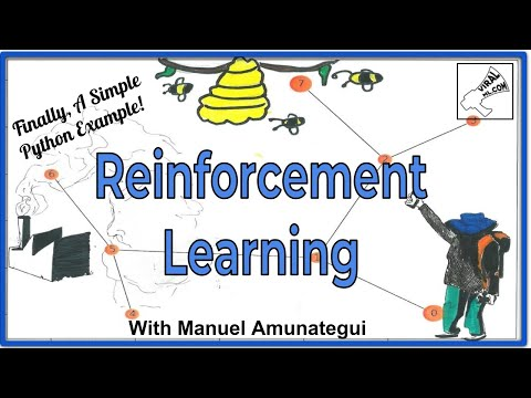 Reinforcement Learning - A Simple Python Example and A Step Closer to AI with Assisted Q-Learning