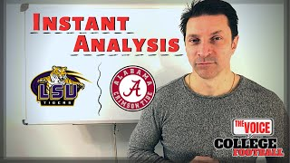 #1 RANKING, PLAYOFF & HEISMAN / LSU Tigers - Alabama Crimson Tide INSTANT ANALYSIS
