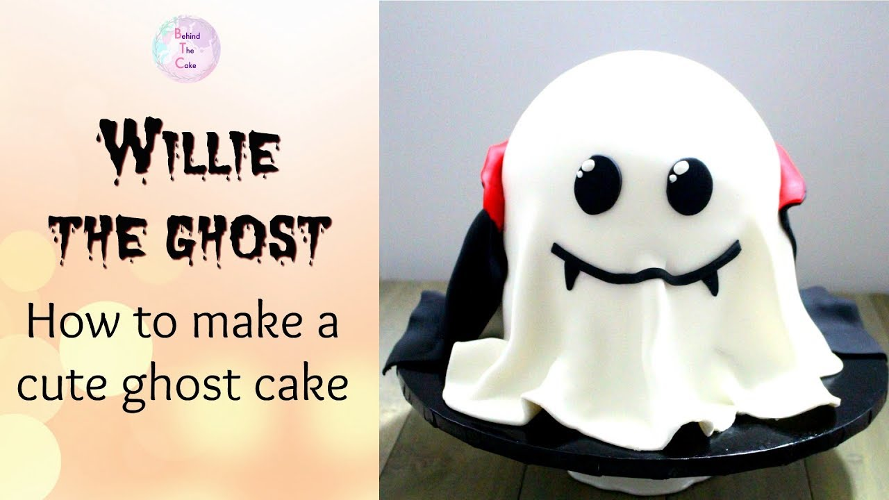 Ghost Cake How To Make Halloween Cake Ideas Youtube