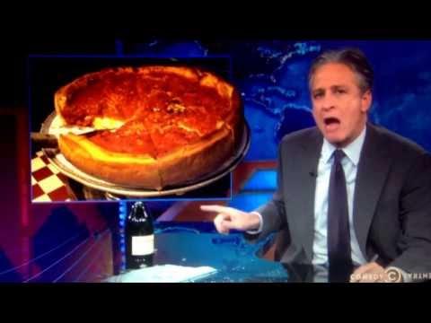 Jon Stewart: Chicago-style Pizza vs. New York Pizza (I don
