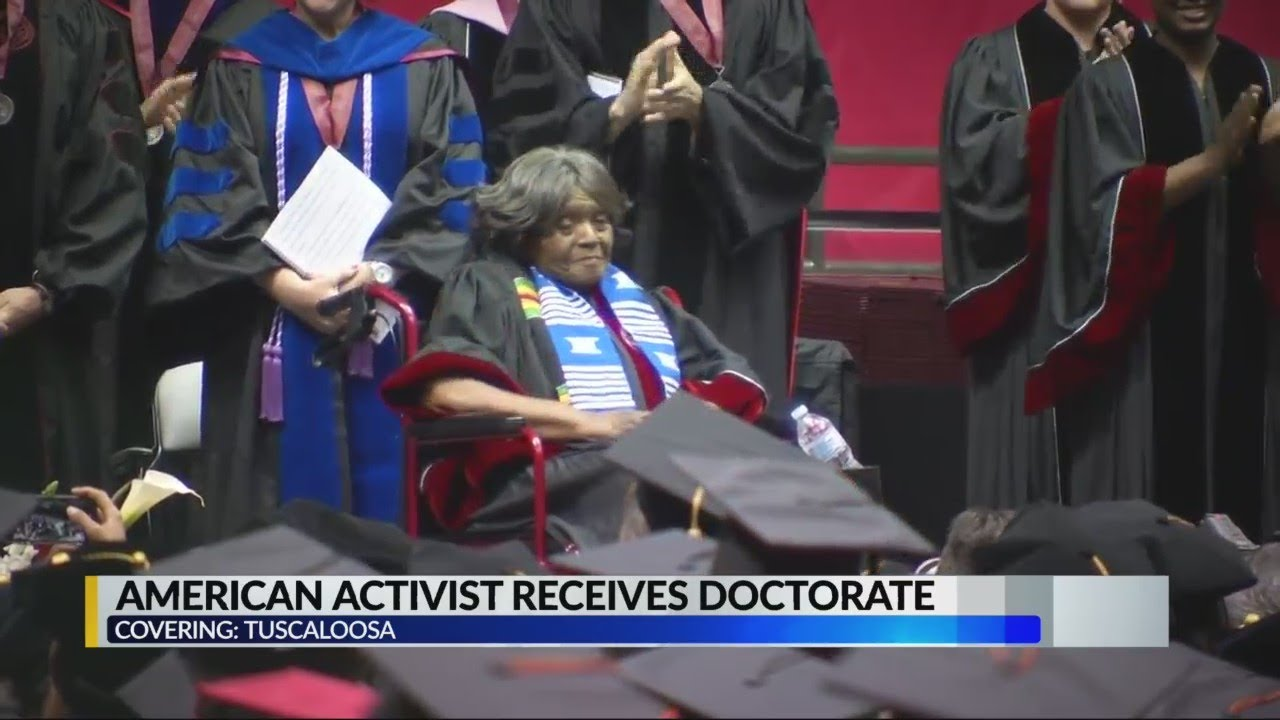 First Black Student to Attend the University of Alabama Finally Receives Doctorate Degree at 89-Year