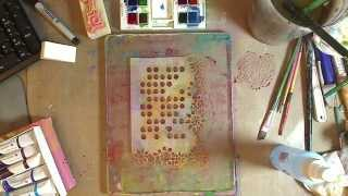 How to- Gelliplate Play with watercolors