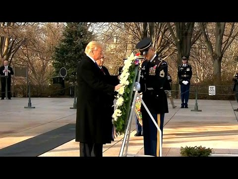 Trump lays wreath at Tomb of the Unknown Soldier