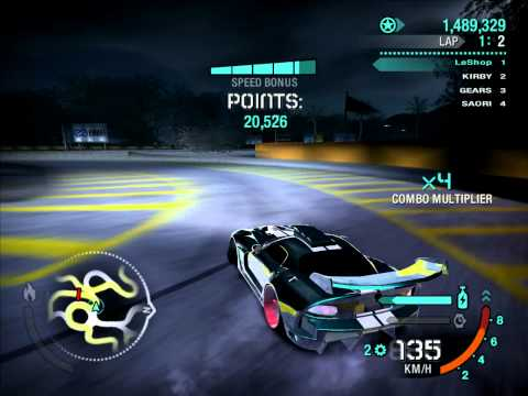 need for speed carbon best drift 2.8m million (in 2laps) Dodge Viper SRT10