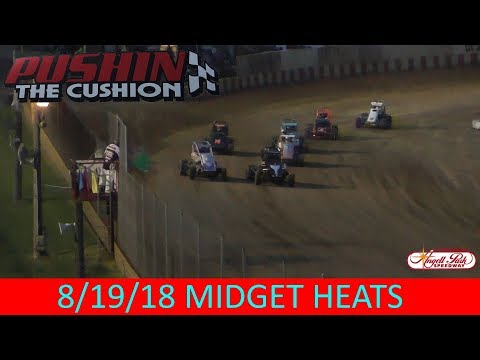 Angell Park Speedway - 8/19/18 - Midgets - All Heats
