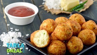 Rice and Cheese Balls, made from leftover rice by Tarla Dalal