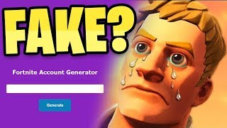 I used a RARE Fortnite account generator and it ACTUALLY didn't work...