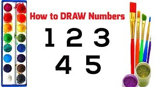 Learn How to Draw Numbers and Coloring | Drawing Numbers for Kids 1 to 5 | Coloring Pages☆