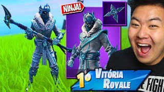 I BOUGHT THE ICE NINJA SKIN!! * EPIC! *-Fortnite Battle Royale
