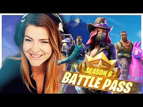 GIVING AWAY ENTIRE SEASON 6 BATTLE PASS + REACTION! (Fortnite: Battle Royale) | KittyPlays