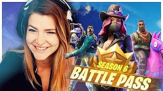 GIVING AWAY ENTIRE SEASON 6 BATTLE PASS + REACTION! (Fortnite: Battle Royale) | KittyPlays