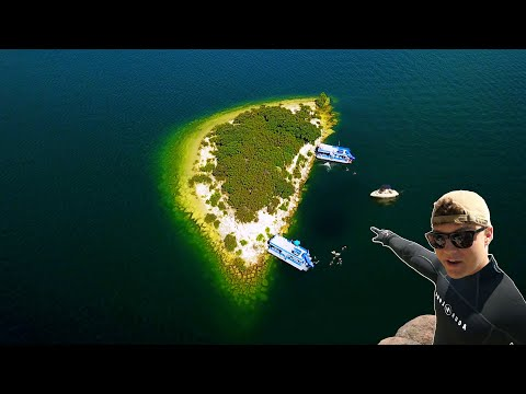What's Lost 99 Feet Deep Under Party Island? (Scuba Diving DEEP)