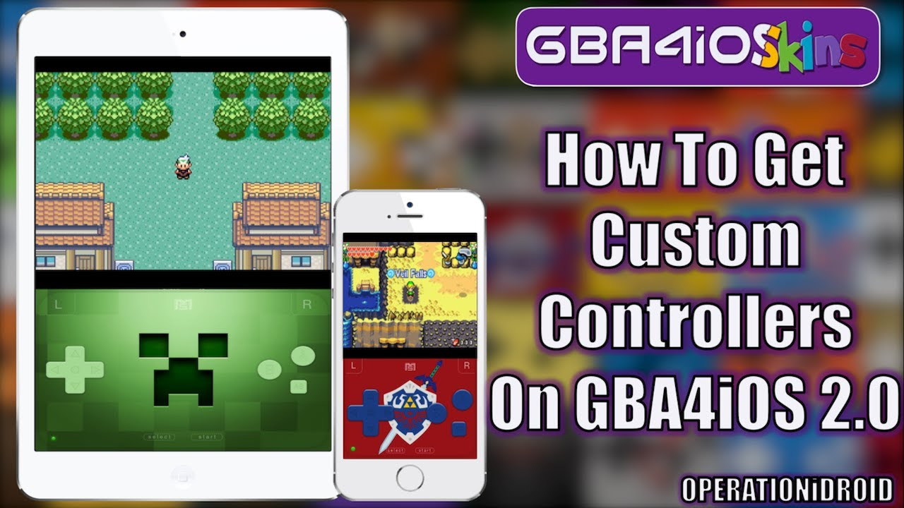 GBA4iOS 2 0: How to Get Custom Controller Skin using GBA4iOSkins com (NO  COMPUTER)