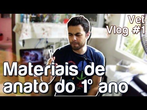 Vet Vlog #1 - Materiais de anato do 1º ano
