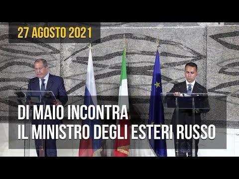 Di Maio incontra il ministro degli Esteri Russo