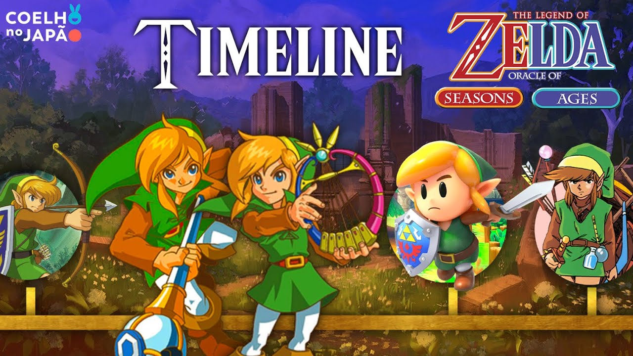 The Legend of Zelda: Oracle of Seasons e Oracle of Ages ❘ A Timeline Completa 06 ❘ #CoelhoDoc