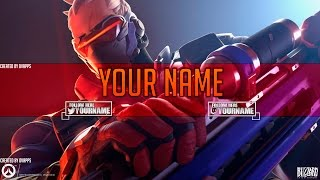 Overwatch YouTube Art/Banner Template | Photoshop CC Speedart