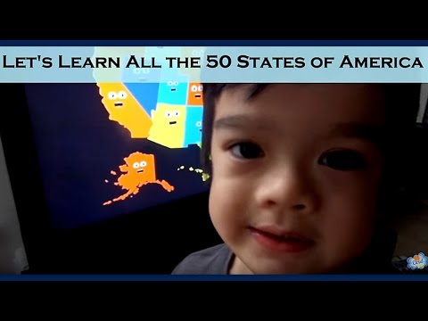 Learning the 50 States of USA in Alphabetical Order & Their Locations || jCloudTV