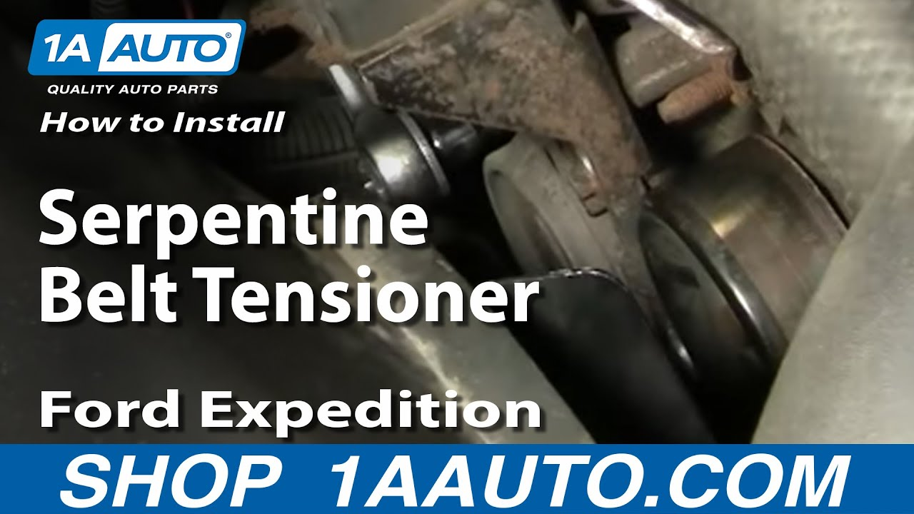 How To Install Replace Serpentine Belt Tensioner Ford F 150 00 Expedition Engine Cooling Diagram 97 03 1aautocom Youtube