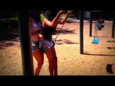 Hot Girl Gets A Wedgie On The Swing