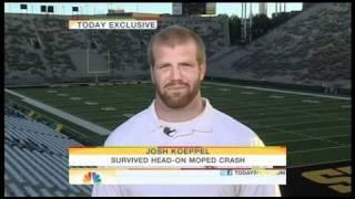 JOSH KOEPPEL Iowa FB Player on Motorcycle accident