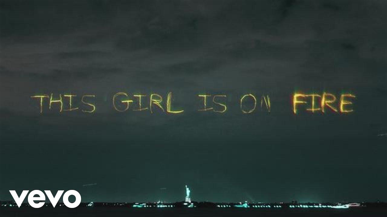 Alicia Keys - Girl On Fire (Inferno Version) [Official Lyric video] ft. Nicki Minaj