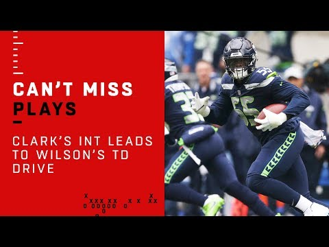 INT by Frank Clark Leads to Russell Wilson's TD Drive vs. Rams!